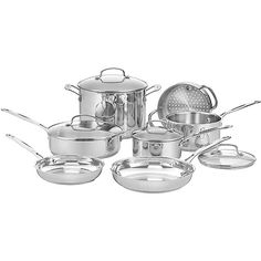 """Cuisinart 11-Piece Chef's Classic Cookware Set, Stainless Steel: Kitchen & Dining : Walmart.com """"Good"""" Quality Doesn't Have to be Expensive!"""