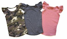 GIRLS FLUTTER SLEEVE SOLID TANK TOP (0/3 M - 6T) - 6 COLOR OPTIONS