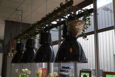 vintage industrielampen, ze zijn al klaar voor gebruik