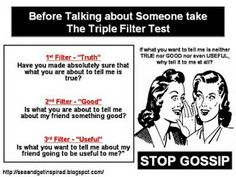 quotes for people who gossip | Black is a Color: My point of view: Gossip