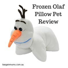 I don't think there are too many little girls out there right now who are not absolutely obsessed with Frozen!  Even I enjoyed the movie, and thought Olaf was pretty cute for a snowman.  I knew my 4 year old was going to enjoy taking part in this Frozen Olaf Pillow Pet review, and I was right.