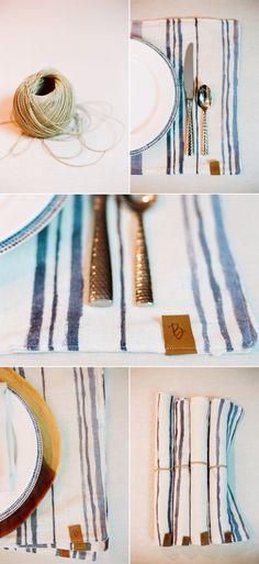 DIY Watercolour Placemats – Style Me Pretty
