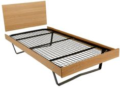 This Metal Skid Bed is part of our Robust contract furniture range. The metal skid bed with three sided frame (headboard sold separately). It has a welded mesh mattress platform with metal cross supports to give added durability and strength. Headboard sold separately. Bed comes without frame as standard however featured image shows bed with the wooden frame surround. Tested to BS 4875-7:2006 Test Level 5. Available In: Light Oak, French Walnut or Light Beech.