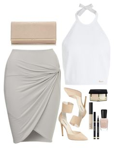 """""""Draya Michelle?"""" by styledbytae ❤ liked on Polyvore featuring Dsquared2, Jimmy Choo, NARS Cosmetics and Zoya"""