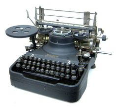 An antique typewriter.