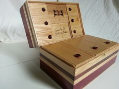 Little purpleheart nobs all hand carved