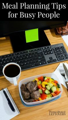 Use these Meal Planning Tips for Busy People to create healthy menu plans, meal prep, and quick and easy recipes to get you through the busy nights. Simple family dinner idea. You can use these tips for breakfast and lunch as well.