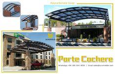Hotel Porte Cohere Idea #entrance #carport #gate #portecohere #french #front #lighting #LEDsystem #polycarbonatecover #aluminum #lowheight #portecohereidea