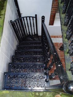 British Spirals & Castings offer combination or straight cast staircases from its stunning Cast Aluminium range as an alternative to a spiral. Basement Flat, Porch Stairs, English Tudor, Attic Renovation, Tudor Style, Spiral Staircase, Travel Themes, Table Games, Lounge Areas
