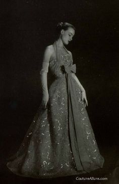 Evening gown by Christian Dior, 1951.