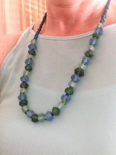 Dalia Blue- Green Crystal Before A$27.95 NOW ON SALE A$19.95 Blue Green, Jewelry Accessories, Beaded Necklace, Crystals, Fashion, Beaded Collar, Moda, Jewelry Findings, Duck Egg Blue