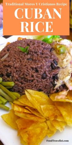 Traditional Cuban Rice Recipe Moros y Cristianos cuban rice - - Platillo Moros y Cristianos is a traditional Cuban rice dish of black beans and rice. Try this simple authentic recipe at home. Cuban Rice And Beans, Rice And Beans Recipe, Cuban Black Beans, Jamaican Black Beans And Rice Recipe, Spanish Rice And Beans, Cuban Dishes, Spanish Dishes, Spanish Food, Julia Childs