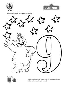 sesame street coloring pages numbers 1 | numbers coloring pages 17 | Coloring Pages - Number Sesame ...