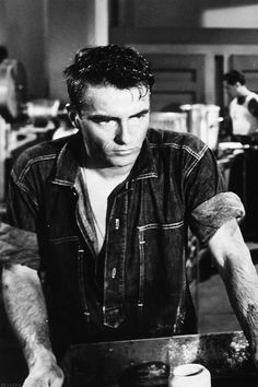 Montgomery Clift in 'From Here to Eternity', 1953.  Loved that movie...was one of my Mothers favorites..popcorn on on a Sunday afternoon.