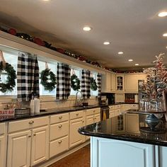 Black and White Buffalo Check Curtains - 24 Width and 50 Width Options -Rod Pocket - Options For Cotton or Blackout Lining - kitchen redo - Eat In Kitchen, Kitchen Redo, Kitchen Remodel, Kitchen Dining, Kitchen Cabinets, Buffalo Plaid Curtains, Buffalo Check Curtains, Farmhouse Kitchen Decor, Farmhouse Chic