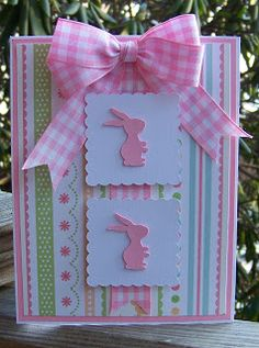 Good Friday morning to you all   Well it's another SOUS die cut challenge and this time it is Bunny Etc....  So for mine I made a Baby Bunny...