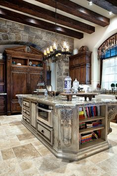 English Manor - traditional - kitchen - houston - JAUREGUI Architecture Interiors Construction
