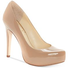 Jessica Simspon Parisah Platform Pumps ($69) ❤ liked on Polyvore featuring shoes, pumps, heels, nude, nude pumps, jessica simpson footwear, heel platform shoes, heel pump and nude shoes