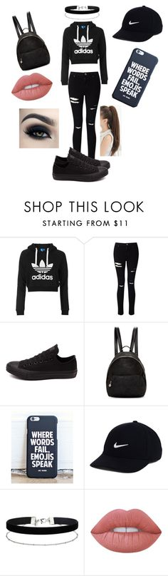 """"" by loulou-246-xx ❤ liked on Polyvore featuring Topshop, Miss Selfridge, Converse, STELLA McCARTNEY, NIKE and Lime Crime"