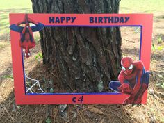 Spider-man inspired photo prop frame by CamiesCreativeDesign