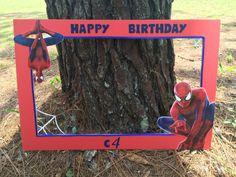 Spider-man inspired photo prop frame by CamiesCreativeDesign