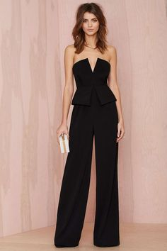 Nasty Gal Love to Love You Peplum Jumpsuit | Nasty Gal