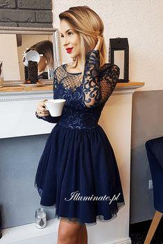 ALICE granatowa tiulowa sukienka na studniówkę Evening Dresses, Formal Dresses, Alice, Homecoming Dresses, Photoshoot, Outfits, Unique, Skirts, Clothes