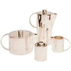 1stdibs.com | Sterling Silver Coffee & Tea Service by Calvin Klein for Swid Powell