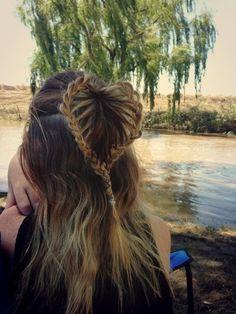 Heart braid hairstyle