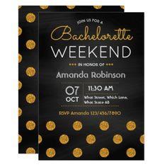 #Chalkboard Bachelorette Weekend Party Invitation - #engagement #party engagement partywedding showerwedding