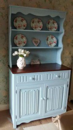 BEAUTIFUL SOLID OAK WELSH DRESSER DUCK EGG BLUE FAB CONDITION On Gumtree Welsh DresserDining Table