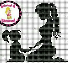 Baby Cross Stitch Patterns, Cross Stitch Love, Cross Stitch Designs, Hand Embroidery Art, Cross Stitch Embroidery, Embroidery Patterns, Cross Stitch Silhouette, Pixel Crochet, Filet Crochet Charts