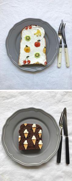 Japanese food stylist Eiko Mori, creates toast art that looks too cute to eat.