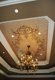 Stencil a ceiling for impact....this is a great one.