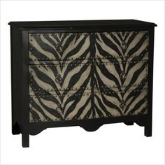 This handsome Chest features rustic zebra-patterned drawer fronts. ...