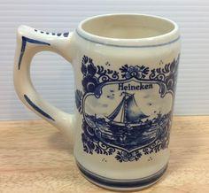 Delft Blue Heineken Beer Stein Mug Windmill Holland Handpainted Vintage | eBay