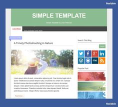Simple Blog – Free Blogger Template
