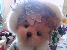 Cecelia..Jointed Bear in Holiday Fashion by Blissfulcollectables on Etsy