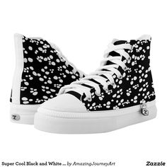 Super Cool Black and White Sneakers | Printed Shoes | #shoes #designershoes #sneakers #footwear  #outfit #fashion