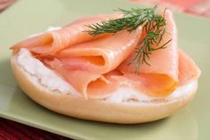 Try smoked salmon and reduced fat cream cheese for a healthy breakfast