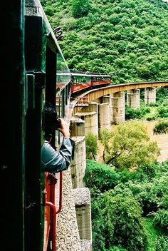 On the Chepe train through the Copper Canyon in Northern Mexico