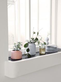 New pots and plant walls http://www.fermliving.com/webshop/shop/news.aspx