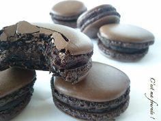 Cest ma fournée !: Macarons au chocolat noir