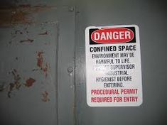 Work in confined spaces could be harmful. You have to know about the dangers and understand how to keep them. First Aid Procedures, Work System, Confined Space, Education Center, Train, Spaces, Strollers