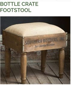 Bottle crate footstool