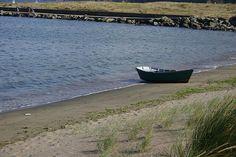 Barca en Cariño (fotografía de Manuel Rivas)