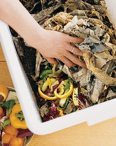 Start Composting  Things we often throw away -- grass clippings, coffee grinds, and vegetable peels -- can provide a constant source of fertilizer and soil conditioner for your vegetables. Compost also helps make soil more absorbent, reducing the need for watering. Plus, the composting process is easy, inexpensive, and a great way to add nutrients back into the garden.