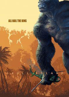 ۞ | Illustrated poster for upcoming Legendary Pictures Kong; Skull Island by myself, Jaroslav Kosmina