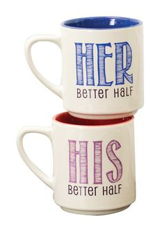 Boston Warehouse | Better Half Perfect Pair Mug - Set of 2 | HauteLook