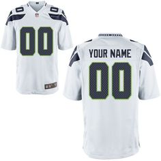 Nike Men's Seattle Seahawks Customized Game White Jersey - $149.99